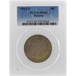 1923-S Monroe Doctrine Centennial Half Dollar Coin PCGS MS65