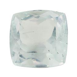 10.02 ct.Natural Square Cushion Cut Aquamarine