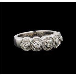 14KT White Gold 0.67 ctw Diamond Ring