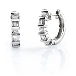 Platinum 0.51CTW Diamond Earrings, (H-I)