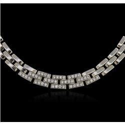 18KT White Gold 0.72 ctw Diamond Necklace