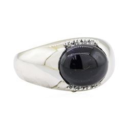 9.06 ctw Sapphire and Diamond Ring - 14KT White Gold