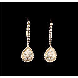 0.33 ctw Diamond Earrings - 14KT Rose Gold