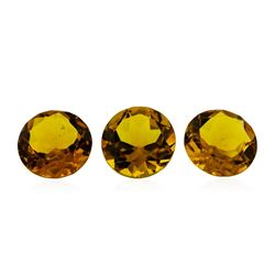 16.13 ctw.Natural Round Cut Citrine Quartz Parcel of Three