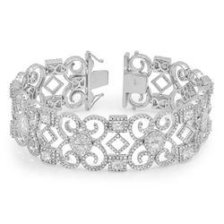 14k White Gold 13.87CTW Diamond Bracelets, (VS/F-G)