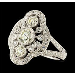 1.48 ctw Diamond Ring - 18KT White Gold