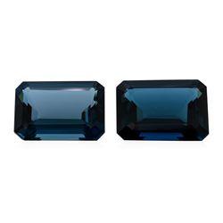 60.00 ctw. Natural Emerald Cut London Blue Topaz Parcel of Two