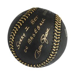 Autographed Pete Rose  I'm Sorry  Black Baseball