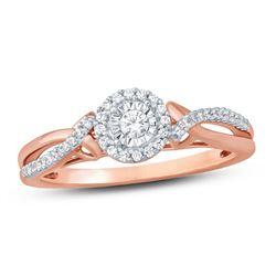 14K White Gold 0.21CTW Diamond Ring, (I1-I2/H-I)