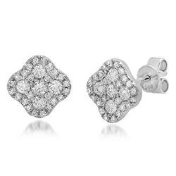 14k Gold 0.51CTW Diamond Earrings, (SI3/H)