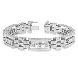14K White Gold 1.30CTW Diamond Bracelet, (SI3/F-G)