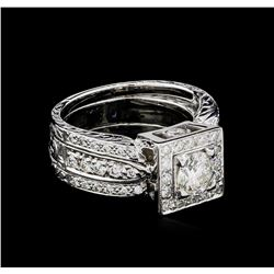 1.80 ctw Diamond Ring - 18KT White Gold