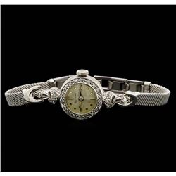 Bulova 14KT and 10KT White Gold 0.22 ctw Diamond Ladies Watch