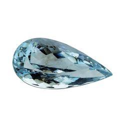 3.92 ct.Natural Pear Cut Aquamarine