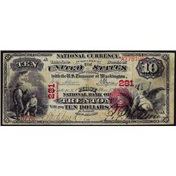 1875 $10 First National Bank CH# 281 Trenton, NJ National Currency Note