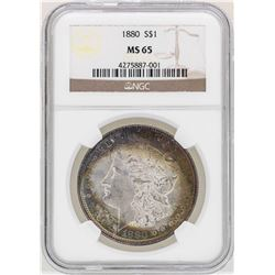 1880 $1 Morgan Silver Dollar Coin NGC MS65