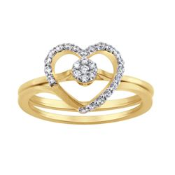 14K Yellow Gold 0.21CTW Diamond Ring, (I1-I2/H-I)