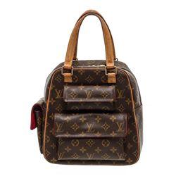 Louis Vuitton Monogram Canvas Leather Excentri Cite Shouder Bag