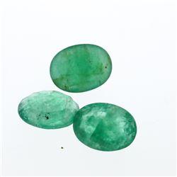 4.56 cts. Oval Cut Natural Emerald Parcel