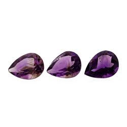 23.54 ctw.Natural Pear Cut Amethyst Parcel of Three