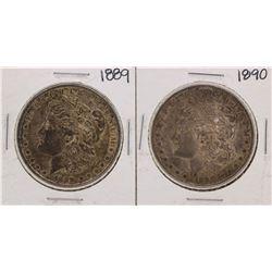 Lot of 1889-1890 $1 Morgan Silver Dollar Coins