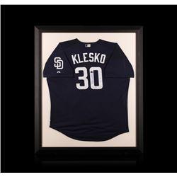 Ryan Klesko Framed Autographed Jersey