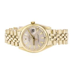 Rolex Oyster Perpetual Date Wrist Watch - 14KT Yellow Gold