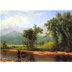 Wind River Mountains, Landcape in Wyoming by Albert Bierstadt