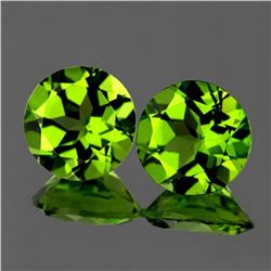 Natural Peridot Pair 9.00 mm - Flawless