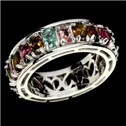 Natural Fancy Color Tourmaline Ring