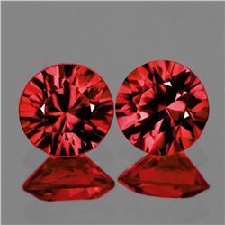 Natural  AAA Fire Pinkish Orange Rhodolite Garnet Pair