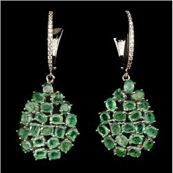Natural Untreated emerald 42.70 Cts Earrings