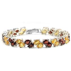 NATURAL MULTI COLOR CITRINE & GARNET Bracelet