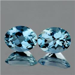 Natural AAA Santa Maria Blue Aquamarine Pair - FL
