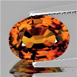 Natural AAA Imperial Orange Zircon 7.5x5.5 MM - VVS