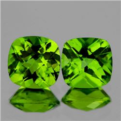 Natural Best AAA Green Peridot Pair {Flawless-VVS}