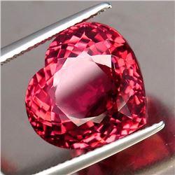 Natural  Pink Tourmaline Heart 12.92 Ct - VVS - GIA