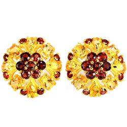 NATURAL MULTI COLOR CITRINE & GARNET Earrings