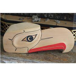West Coast Native Hand Carved 3D Eagle Head Mask