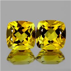 Natural YellowBeryl Heliodoor Pair 7.00 MM - FL