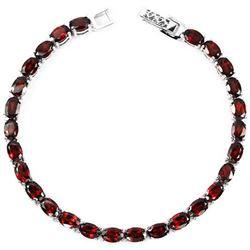 NATURAL DARK ORANGE RED GARNET Bracelet