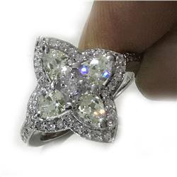 Amazing 3.52 Ct Lab Diamond Ring
