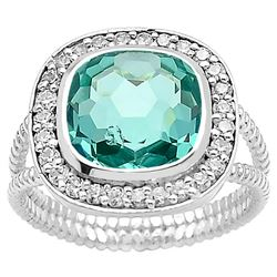 GORGEOUS 4.5 CT PARAIBA TOURMALINE RING