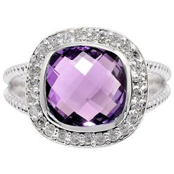 BEAUTIFUL NATURAL 4.8 CT AMETHYST RING
