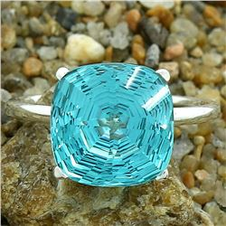 GORGEOUS 7 CT PARAIBA TOURMALINE RING
