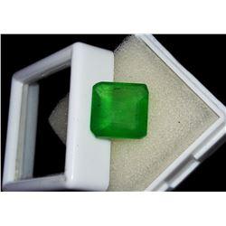 Natural Asher Cut Emerald 5.95 Ct - Certified