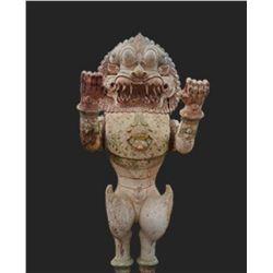 Antique Yali | The Mythical Lion Guardian - Set of 4
