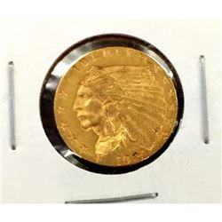 1925 D $ 2.5 Gold Indian