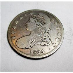 1834 VG Grade Bust Half Dollar