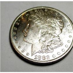 1882 s CH BU Morgan Silver Dollar